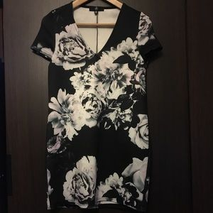 Missguided floral print dress